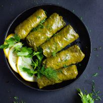 Stuffed vineleaves, Dolmeh barg, Dolma,Sarma recipe