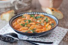 White beans with red sauce recipe